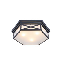 Penta 3 Light 18 inch Bronze Flush Mount Ceiling Light