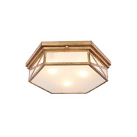 Urban Classic by Elegant Lighting Penta 3 Light Flush Mount in Golden Iron 1477F18GI