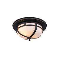Bella 2 Light 11 inch Bronze Flush Mount Ceiling Light, Urban Classic