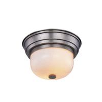 Elegant Lighting 1479F10VN Ellis 2 Light 10 inch Vintage Nickel Flush Mount Ceiling Light Urban Classic