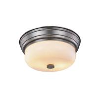 Elegant Lighting 1479F15VN Ellis 2 Light 15 inch Vintage Nickel Flush Mount Ceiling Light Urban Classic
