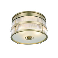 Elegant Lighting 1481F18BB Anjelica 3 Light 18 inch Burnished Brass Flush Mount Ceiling Light, Urban Classic
