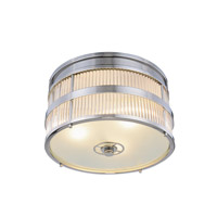Elegant Lighting 1481F18PN Anjelica 3 Light 18 inch Polished Nickel Flush Mount Ceiling Light, Urban Classic