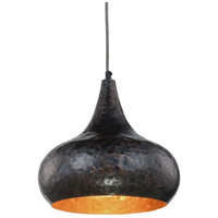 Urban Classic by Elegant Lighting Seville 1 Light Pendant in Vintage Copper 1484D12VC