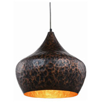 Urban Classic by Elegant Lighting Seville 1 Light Pendant in Vintage Copper 1484D15VC
