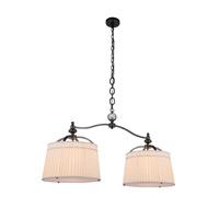 Elegant Lighting 1485G48BZ Cara 2 Light 18 inch Bronze Pendant Ceiling Light, Urban Classic
