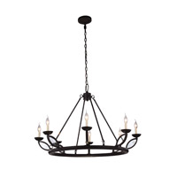 Elegant Lighting 1488G43VB Charleston 8 Light 43 inch Vintage Bronze Pendant Ceiling Light, Urban Classic photo thumbnail