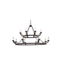 Elegant Lighting 1488G66VB Charleston 16 Light 66 inch Vintage Bronze Pendant Ceiling Light Urban Classic