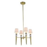 Olympia 4 Light 26 inch Burnished Brass Pendant Ceiling Light, Urban Classic