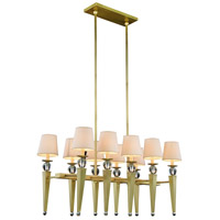 Elegant Lighting 1489G38BB Olympia 10 Light 20 inch Burnished Brass Pendant Ceiling Light Urban Classic