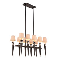 Elegant Lighting 1489G38BZ Olympia 10 Light 20 inch Bronze Pendant Ceiling Light Urban Classic