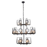 Elegant Lighting 1490G42BZ Twilight 24 Light 42 inch Bronze Pendant Ceiling Light Urban Classic
