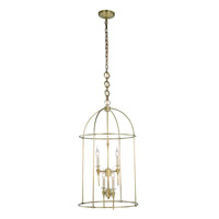Elegant Lighting 1491D20BB Bavaria 4 Light 20 inch Burnished Brass Pendant Ceiling Light Urban Classic