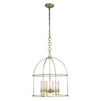 Elegant Lighting 1491D24BB Bavaria 6 Light 24 inch Burnished Brass Pendant Ceiling Light Urban Classic