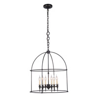 Elegant Lighting 1491D24BZ Bavaria 6 Light 24 inch Bronze Pendant Ceiling Light Urban Classic