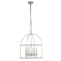 Elegant Lighting 1491D24PN Bavaria 6 Light 24 inch Polished Nickel Pendant Ceiling Light Urban Classic