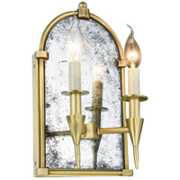 Elegant Lighting 1491W8BB Bavaria 2 Light 8 inch Burnished Brass Wall Sconce Wall Light Urban Classic