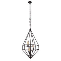 Elegant Lighting 1492D22AI Marquis 3 Light 22 inch Aged Iron Pendant Ceiling Light, Urban Classic