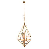 Elegant Lighting 1492D22GI Marquis 3 Light 22 inch Golden Iron Pendant Ceiling Light Urban Classic