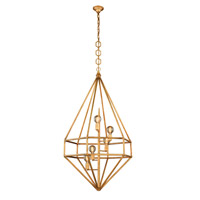 Urban Classic by Elegant Lighting Marquis 5 Light Pendant in Golden Iron 1492D30GI