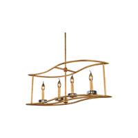 Elegant Lighting 1494D32GI Bjorn 4 Light 12 inch Golden Iron Pendant Ceiling Light Urban Classic