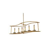 Elegant Lighting 1494G44GI Bjorn 6 Light 14 inch Golden Iron Pendant Ceiling Light Urban Classic