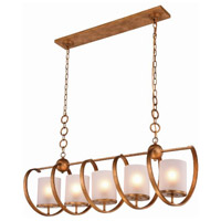 Europa 5 Light 13 inch Golden Iron Pendant Ceiling Light