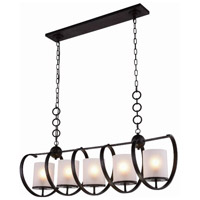 Europa 5 Light 13 inch Vintage Bronze Pendant Ceiling Light, Urban Classic