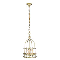 Baltic 4 Light 12 inch Burnished Brass Pendant Ceiling Light, Urban Classic