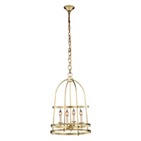 Baltic 4 Light 18 inch Burnished Brass Pendant Ceiling Light, Urban Classic