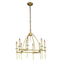 Urban Classic by Elegant Lighting Celtic 8 Light Pendant in Burnished Brass 1499D30BB