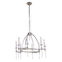 Urban Classic by Elegant Lighting Celtic 8 Light Pendant in Polished Nickel 1499D30PN