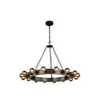Winston 16 Light 35 inch Aged Iron Pendant Ceiling Light, Urban Classic