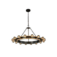 Winston 16 Light 35 inch Golden Iron and Vintage Bronze Pendant Ceiling Light, Urban Classic