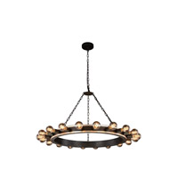Urban Classic by Elegant Lighting Winston 20 Light Pendant in Silver Leaf and Vintage Bronze 1500G40VBSL