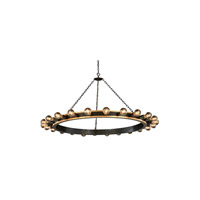 Elegant Lighting 1500G55VBGI Winston 24 Light 55 inch Golden Iron and Vintage Bronze Pendant Ceiling Light, Urban Classic