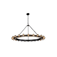 Elegant Lighting 1500G55VBSL Winston 24 Light 55 inch Silver Leaf and Vintage Bronze Pendant Ceiling Light, Urban Classic