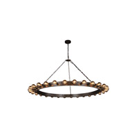 Winston 30 Light 65 inch Aged Iron Pendant Ceiling Light, Urban Classic