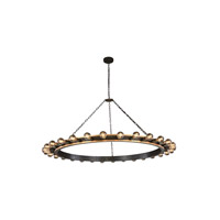Elegant Lighting 1500G65VBGI Winston 30 Light 65 inch Golden Iron and Vintage Bronze Pendant Ceiling Light, Urban Classic