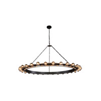 Winston 30 Light 65 inch Silver Leaf and Vintage Bronze Pendant Ceiling Light, Urban Classic