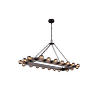 Urban Classic by Elegant Lighting Winston 20 Light Pendant in Aged Iron 1501G50AI