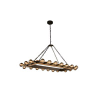 Elegant Lighting 1501G50VBGI Winston 20 Light 21 inch Golden Iron and Vintage Bronze Pendant Ceiling Light, Urban Classic