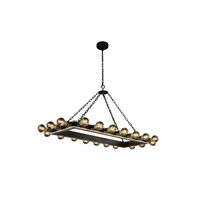 Elegant Lighting 1501G50VBSL Winston 20 Light 21 inch Silver Leaf and Vintage Bronze Pendant Ceiling Light, Urban Classic