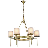 Elegant Lighting 1504D35BB Bradford 6 Light 35 inch Burnished Brass Pendant Ceiling Light Urban Classic