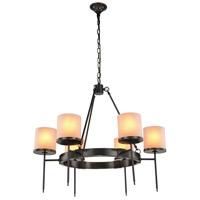 Elegant Lighting 1504D35BZ Bradford 6 Light 35 inch Bronze Pendant Ceiling Light Urban Classic
