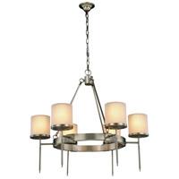 Elegant Lighting 1504D35VN Bradford 6 Light 35 inch Vintage Nickel Pendant Ceiling Light Urban Classic