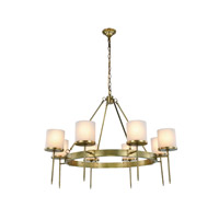 Elegant Lighting 1504G45BB Bradford 8 Light 45 inch Burnished Brass Pendant Ceiling Light Urban Classic