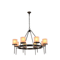 Elegant Lighting 1504G45BZ Bradford 8 Light 45 inch Bronze Pendant Ceiling Light Urban Classic