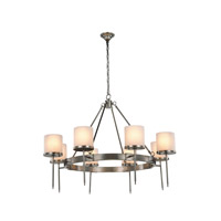 Elegant Lighting 1504G45VN Bradford 8 Light 45 inch Vintage Nickel Pendant Ceiling Light Urban Classic