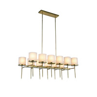 Elegant Lighting 1504G47BB Bradford 12 Light 23 inch Burnished Brass Pendant Ceiling Light Urban Classic